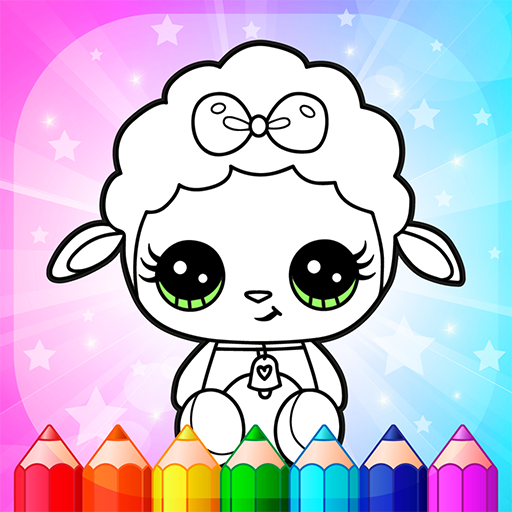 Flower Magic Color-kids coloring book with animals  3.9 APK MOD (Unlimited Money) Download