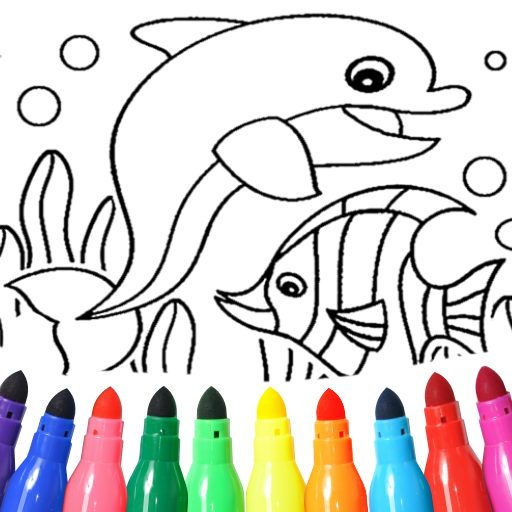 Dolphin and fish coloring book 16.3.2 APK MOD (UNLOCK/Unlimited Money) Download