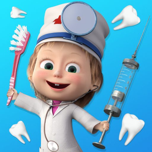 Masha and the Bear: Free Dentist Games for Kids 1.3.6 APK MOD (UNLOCK/Unlimited Money) Download